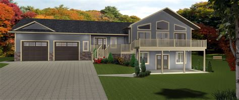 house plan walkout bungalow distinctive basements plans by