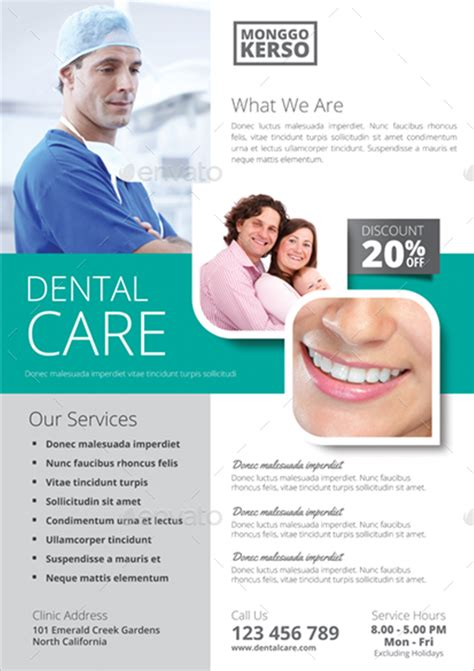 30 dental flyer templates free design ideas creative