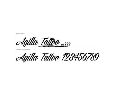 tattoo fonts pack calligraphy font agilla slated cursive italic