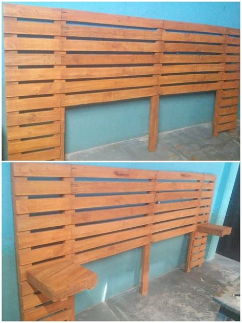 pallet headboard with shelves 50 easiest ways of recycling shipping wooden pallets