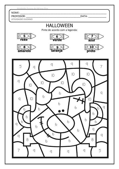 Halloween colorindo seguindo a legenda EM PDF   Atividades