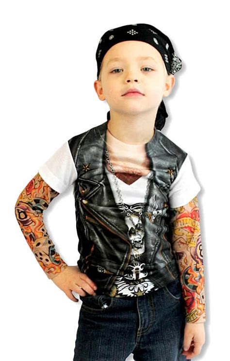 baby tattoo sleeves child shirt rocker shirt sleeve shirt