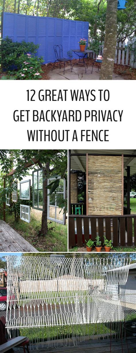 ways to get privacy in backyard 12 great ways to get backyard privacy without a fence