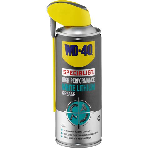 wd 40 specialist high performance white lithium grease 400ml toolstation