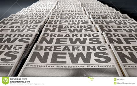Paper Press - newspaper press run end stock photo image of news paper