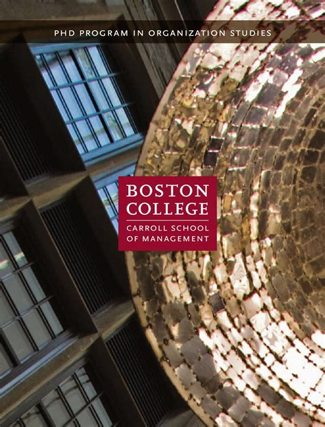Boston College Mba Faculty by Ph D Program In Organization Studies Carroll School Of