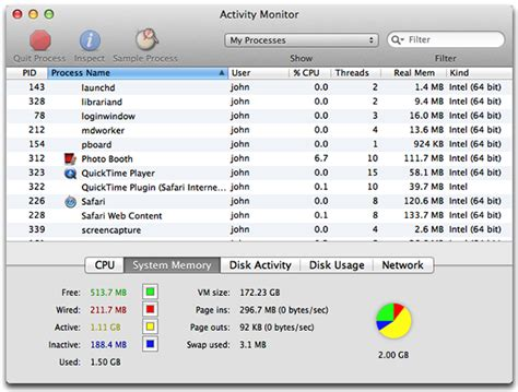 mac ram monitor use activity monitor to read system memory and determine