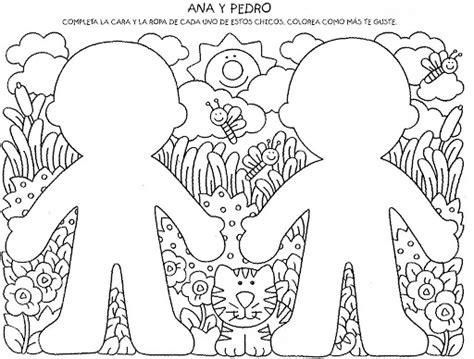 preschool coloring pages my body dibujos para completar para ni 209 os preescolar
