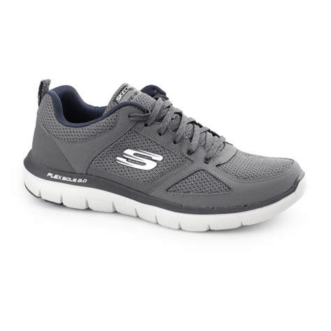 skechers flex advantage 2 0 mens fitness trainers charcoal blue shuperb