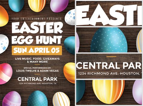 easter egg hunt template free easter egg hunt flyer template flyerheroes