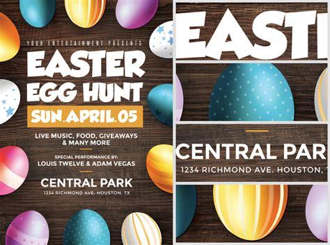 easter poster templates easter egg hunt flyer template flyerheroes