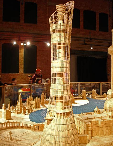 toothpick house fantastic city made from toothpicks