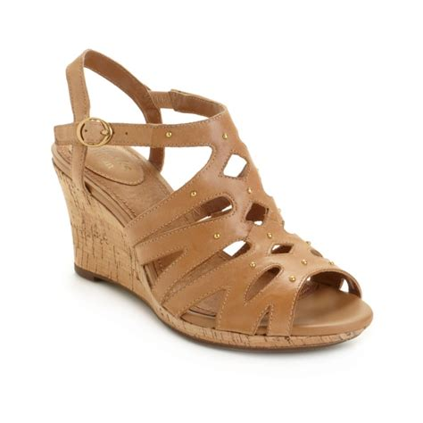 string sandals clarks artisan fiddle string sandals in brown lyst