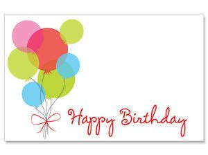 animal small gift cards template 50ct quot happy birthday quot balloons blank florist enclosure