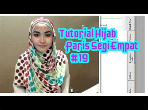 tutorial hijab pesta modern dan simple by revi tutorial hijab paris segi empat modern dan simple untuk