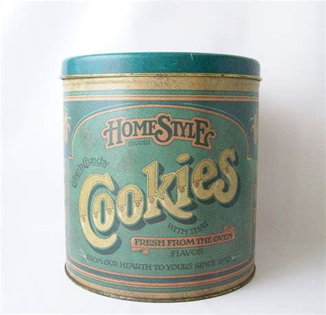 Vintage Kitchen Canister vintage homestyle cookies tin container storage canister large