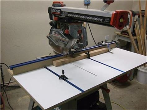 Radial Saw Table