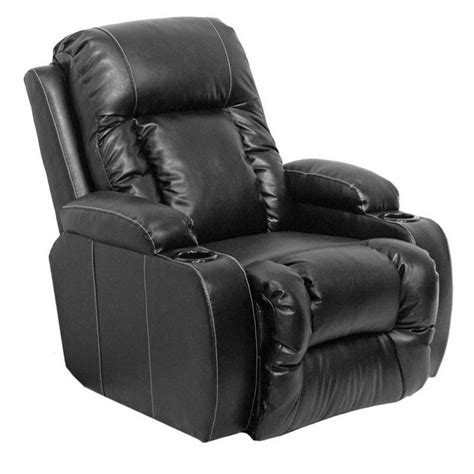 black leather recliner chair catnapper top gun leather power chaise recliner chair in black 6420120308300308