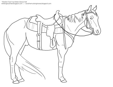 coloring pages of cowgirls and horses western tack lineart by unicornarama on deviantart