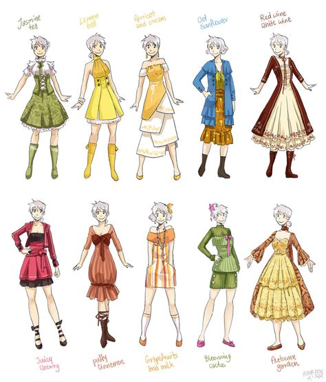design art wear various female clothes 2 by meago on deviantart art