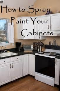 How to spray paint your cabinets