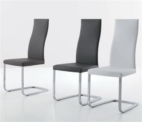 sedia moderna sedia moderna con base a slitta rivestimento in ecopelle