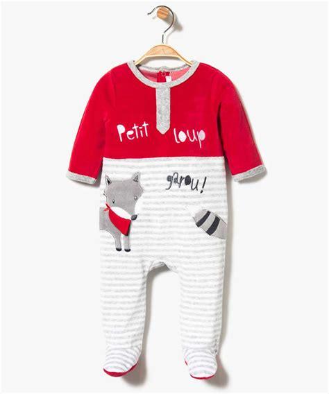 dors bien petit loup 3739901772 pyjama dors bien en velours ray 233 motif loup g 201 mo
