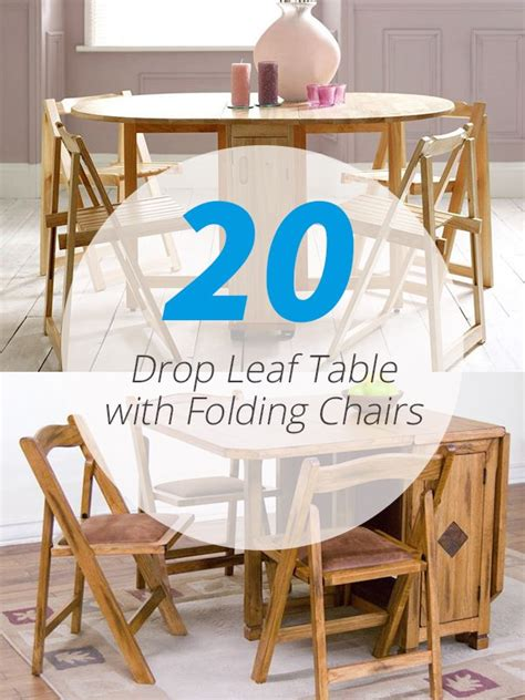 drop leaf table  folding chairs home design lover