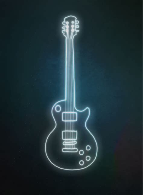 The Light Like A Guitar Only With Light by Glowing Guitar Outline By Lilbitgimpy On Deviantart