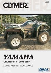 Yamaha Grizzly Manual 660 Repair Service Shop