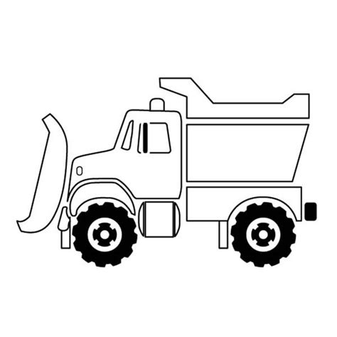 Simple Dump Truck Coloring Pages by Trucks Snow Plow Truck On Dump Truck Coloring Page Snow