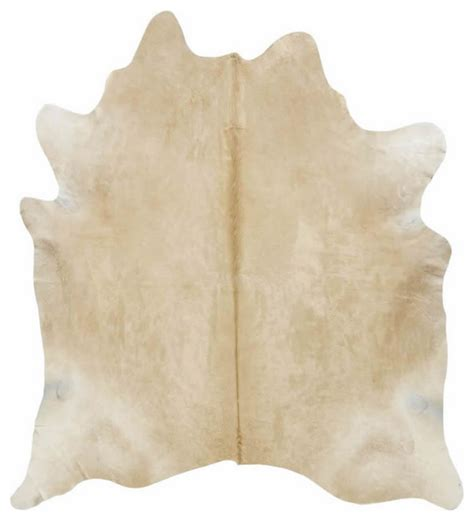 solid light palomino cowhide rug novelty