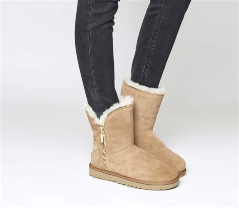 Zip Boots ugg florence zip boots chestnut suede ankle boots