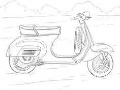 Motorrad Roller Für Kinder by Scooter Coloring Page Free Scooter Coloring