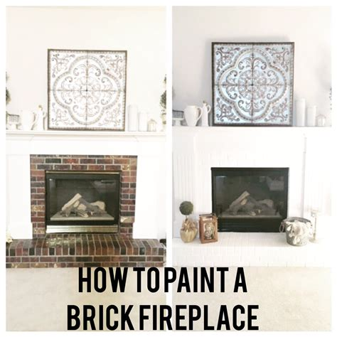 How Do You Paint A Brick Fireplace by How To Paint A Brick Fireplace
