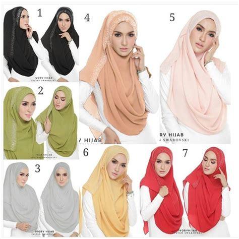 Jilbab Instan Dua Lubang Jilbab Pashmina Instan Ivory 2 Faces Model Terbaru
