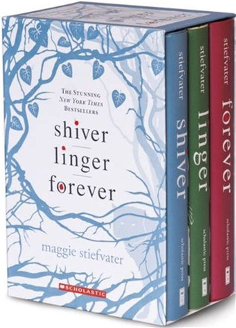 shiver books shiver trilogy boxset the wolves of mercy falls 1 3 by