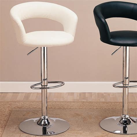 upholstered bar height chairs 29 quot upholstered bar chair with adjustable height white