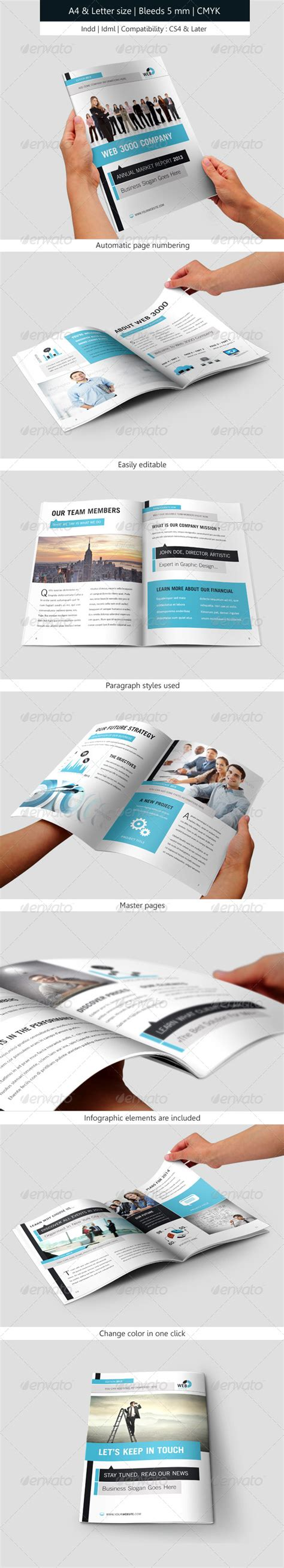 corporate brochure indesign template annual report by