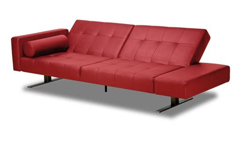 hideabed sofa red leather sofa bed style awakened pinterest