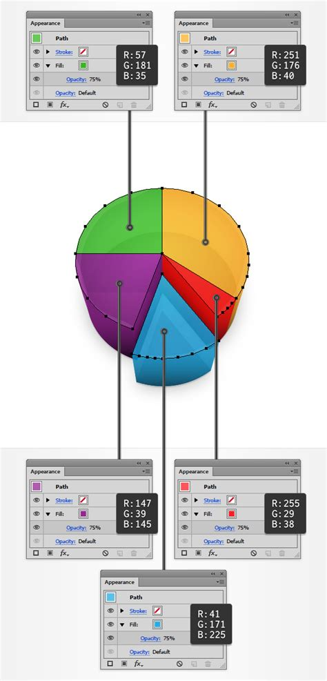 illustrator replace color how to create a 3d pie chart design in adobe illustrator
