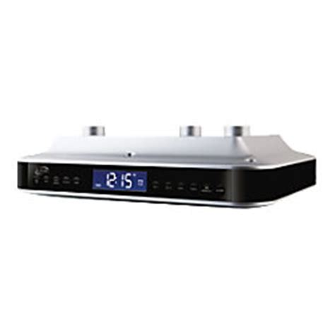 ilive blue under cabinet music system ilive ikb333 under cabinet clock radio stereo