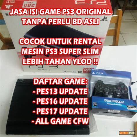 Mesin Ps3 Slim 160 Gb Cfw To Ofw Recondisi Cech 3xxxx lombokgame gameshop mataram detil produk isi ps3 slim superslim ofw 160 250gb cfw