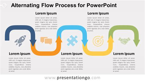 process layout exle ppt alternating flow process diagram for powerpoint