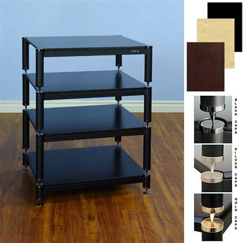 Audio Racks by Vti Bl Series Extended Height Audio Rack Various Finishes