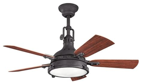 Ceiling Fan Rustic by 44 Quot Hatteras Bay Patio 44 Quot Ceiling Fan Distressed Black