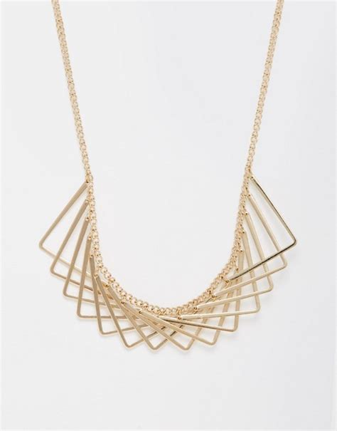 overlap hairstyle over chain new look new look geometric overlapping necklace