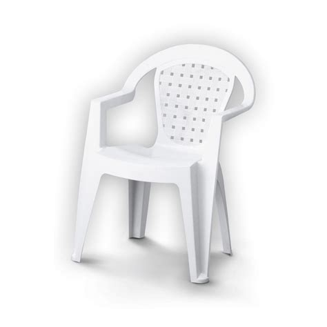 fauteuil en plastique fauteuil de jardin en r 233 sine plastique norma blanc leroy merlin