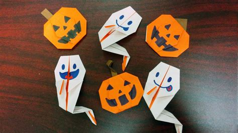 How To Make An Origami Pumpkin - how to make ghost and pumpkin origami