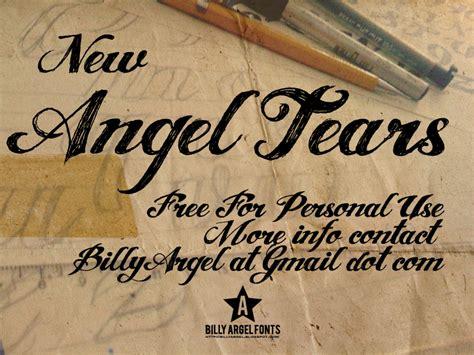 angel tears font 1001 free fonts